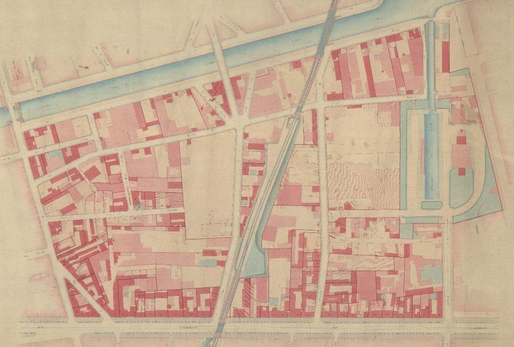 quartier de la Villette, fin XIXe s. - 127 et 128e feuilles (AD75, PP 11911)