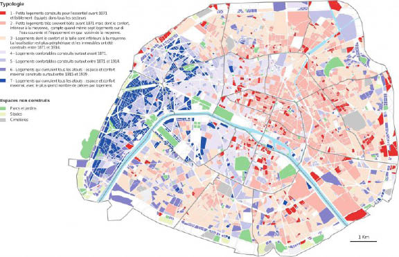 Chantier Seine 1954 : Exemple de traitement, typologie du confort des logements en 1954 à Paris
